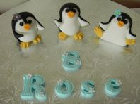 3 Penguin Cake Toppers